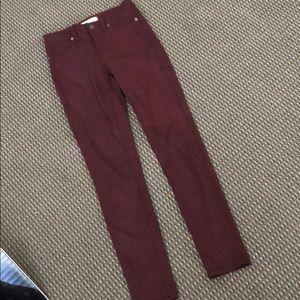 Never worn maroon Madewell jeans!